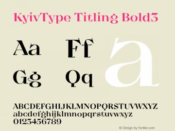 KyivType Titling Bold3 Version 1.002图片样张