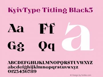 KyivType Titling Black3 Version 1.002图片样张