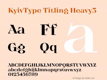KyivType Titling Heavy3 Version 1.002图片样张