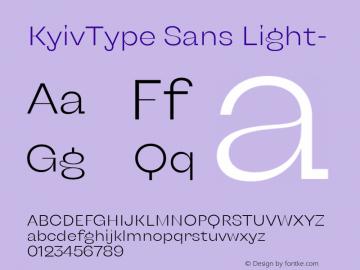 KyivType Sans Light- Version 1.002;hotconv 1.0.109;makeotfexe 2.5.65596图片样张