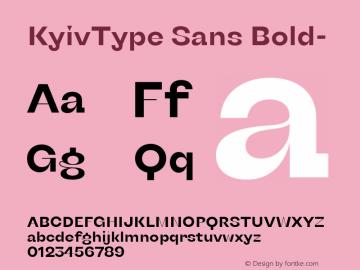 KyivType Sans Bold- Version 1.002;hotconv 1.0.109;makeotfexe 2.5.65596图片样张
