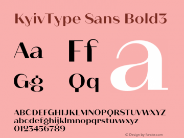 KyivType Sans Bold3 Version 1.002;hotconv 1.0.109;makeotfexe 2.5.65596图片样张