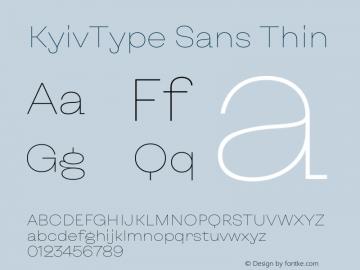 KyivType Sans Thin Version 1.002图片样张