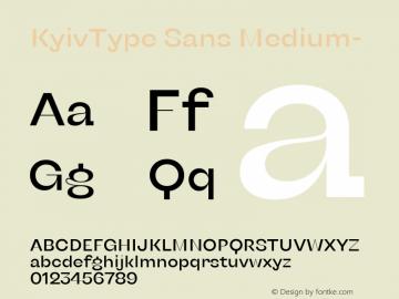 KyivType Sans Medium- Version 1.002图片样张