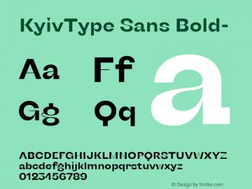 KyivType Sans Bold- Version 1.002图片样张