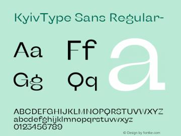 KyivType Sans Regular- Version 1.002图片样张