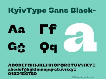 KyivType Sans Black- Version 1.002图片样张