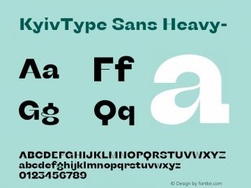 KyivType Sans Heavy- Version 1.002图片样张
