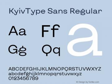 KyivType Sans Regular Version 1.002图片样张