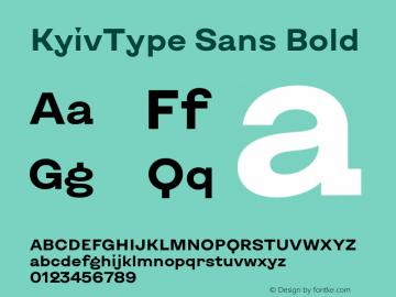 KyivType Sans Bold Version 1.002图片样张