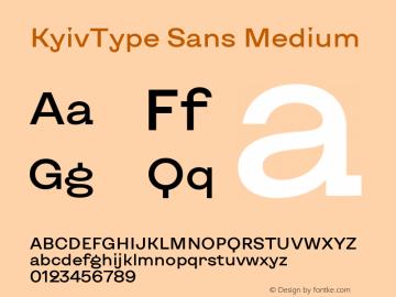 KyivType Sans Medium Version 1.002图片样张