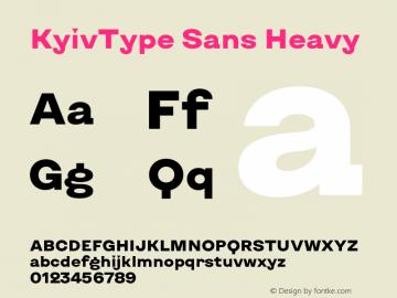 KyivType Sans Heavy Version 1.002图片样张