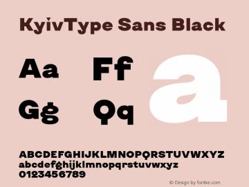 KyivType Sans Black Version 1.002图片样张