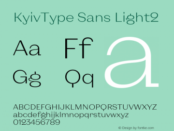 KyivType Sans Light2 Version 1.002图片样张
