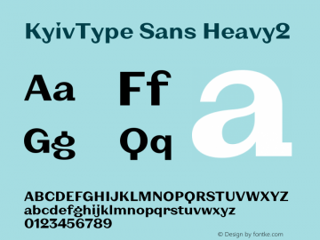 KyivType Sans Heavy2 Version 1.002图片样张