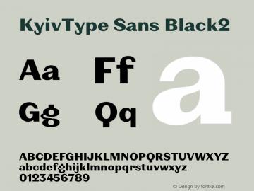 KyivType Sans Black2 Version 1.002图片样张