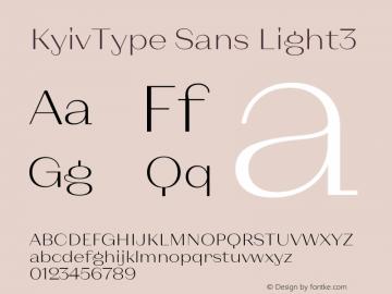KyivType Sans Light3 Version 1.002图片样张