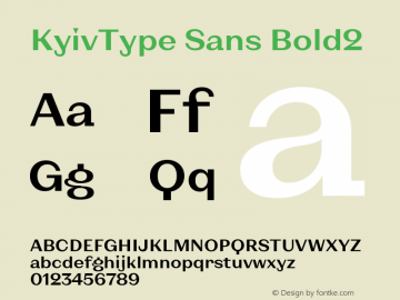 KyivType Sans Bold2 Version 1.002图片样张