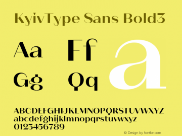 KyivType Sans Bold3 Version 1.002图片样张