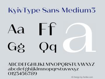 KyivType Sans Medium3 Version 1.002图片样张