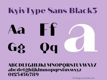 KyivType Sans Black3 Version 1.002图片样张