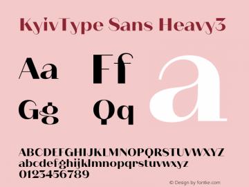 KyivType Sans Heavy3 Version 1.002图片样张