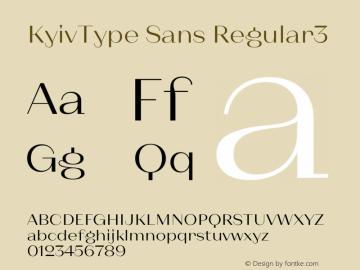 KyivType Sans Regular3 Version 1.002图片样张