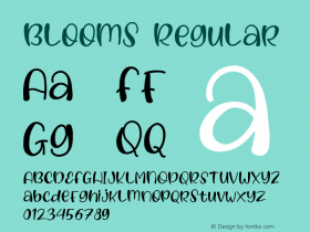 Blooms Version 1.005;Fontself Maker 3.4.0图片样张