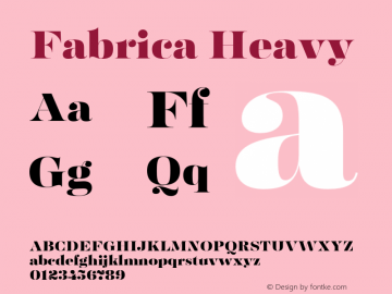 Fabrica-Heavy Version 1.001;hotconv 1.0.109;makeotfexe 2.5.65596图片样张