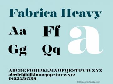 Fabrica Heavy Version 1.001;hotconv 1.0.109;makeotfexe 2.5.65596图片样张