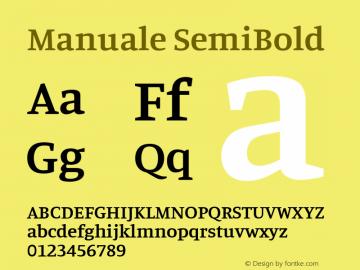 Manuale SemiBold Version 0.075图片样张
