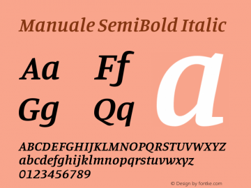 Manuale SemiBold Italic Version 0.075图片样张