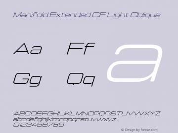 Manifold Extended CF Light Oblique Version 4.000;PS 004.000;hotconv 1.0.88;makeotf.lib2.5.64775图片样张