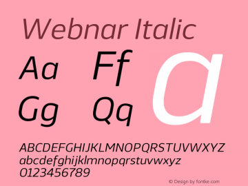 Webnar-Italic Version 1.000;PS 001.000;hotconv 1.0.70;makeotf.lib2.5.58329;com.myfonts.easy.northernblock.webnar.italic.wfkit2.version.4nTJ图片样张