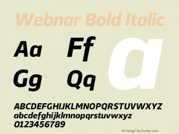 Webnar-BoldItalic Version 1.000;PS 001.000;hotconv 1.0.70;makeotf.lib2.5.58329;com.myfonts.easy.northernblock.webnar.bold-italic.wfkit2.version.4nTK图片样张