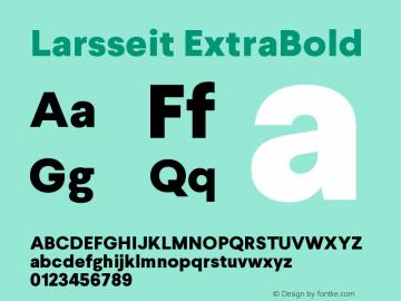 Larsseit-ExtraBold 1.000图片样张