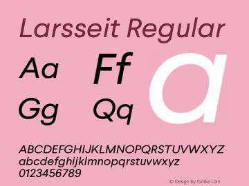 Larsseit-Italic 1.000图片样张