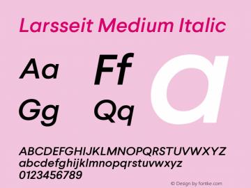 Larsseit-MediumItalic 1.000图片样张