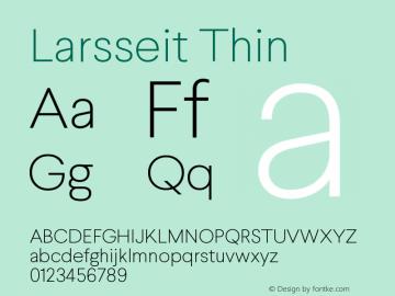 Larsseit-Thin 1.000图片样张
