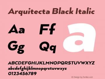 ArquitectaBlack-Italic 1.000图片样张