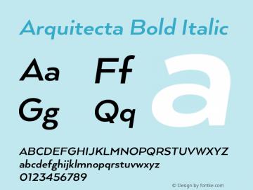 ArquitectaBold-Italic 1.000图片样张