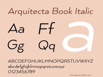 ArquitectaBook-Italic 1.000图片样张