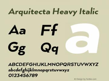 ArquitectaHeavy-Italic 1.000图片样张