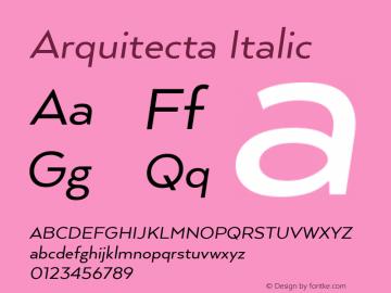 Arquitecta-Italic 1.000图片样张