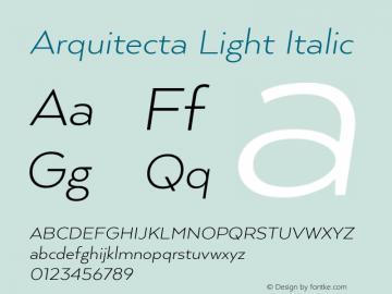 ArquitectaLight-Italic 1.000图片样张
