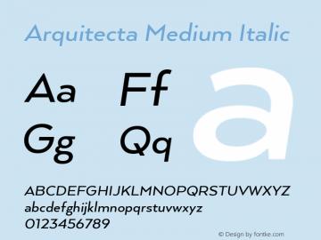 ArquitectaMedium-Italic 1.000图片样张