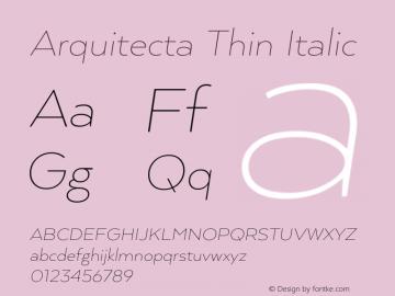 ArquitectaThin-Italic 1.000图片样张
