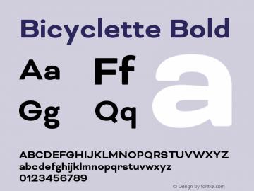Bicyclette-Bold Version 1.000;PS 001.001;hotconv 1.0.56 Font Sample