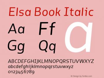 Elsa-BookItalic Version 1.000;图片样张