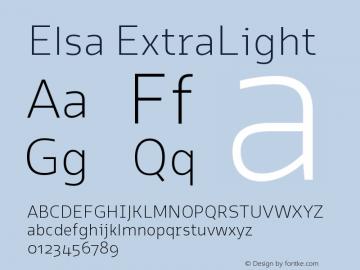 Elsa-ExtraLight Version 1.000;图片样张